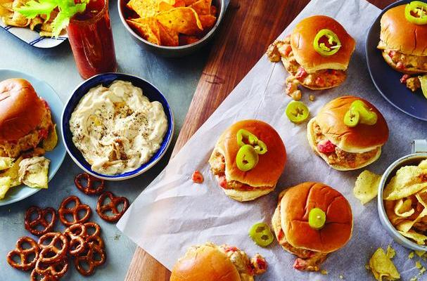 Cheesy Pork and Beef Sliders