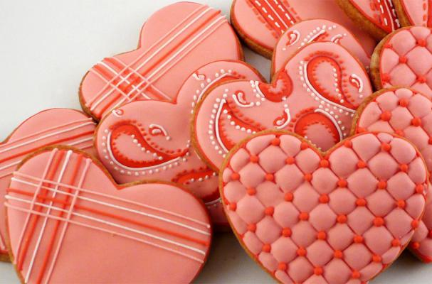 Patterned Heart Cookies