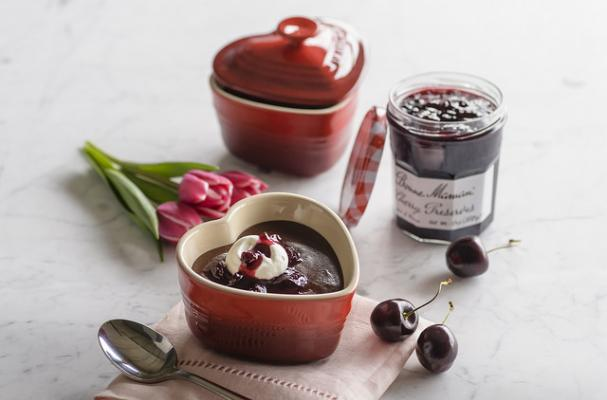 Mother's Day Cherry Chocolate Pudding