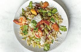 Seafood Brown Rice with Lemongrass and Cilantro