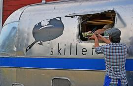 skillet airstream trailer food truck